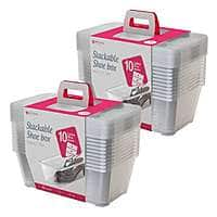 Life Story 5.7 L Clear Shoe & Closet Storage Box Stacking Container (20 Boxes) for $21.99 + FS