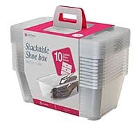 Life Story 5.7 L Clear Shoe & Closet Storage Box Stacking Container (20 Boxes) for $28.99 + Free 1-3 Day Shipping