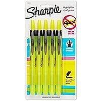 Sharpie Accent Retractable Highlighter, Chisel Tip, Fluorescent Yellow, 5-Count $6.83 at amazon