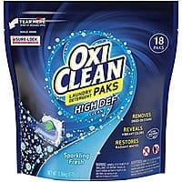 Amazon.com - Oxiclean Laundry Detergent HD Pack, Sparkling Fresh Scent, 18 Count - As low as $2.22 with Free Shipping w/S&S