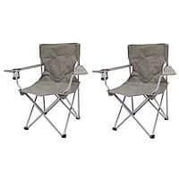 Ozark Trail Quad Folding Camp Chair 2 Pack + Free Store pickup $9.99