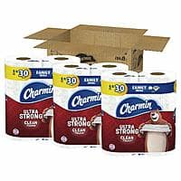 Charmin Ultra Strong Clean Touch Toilet Paper, 18-Count Family Mega Rolls (Equal to 90 Regular Rolls) $16.74