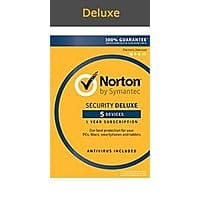 Norton Security Deluxe- 5 Devices; Amazon Exclusive 15-month Subscription - Amazon Prime $  19.99 Digital Download!!!