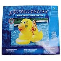 Swimline Giant Ducky Inflatable Ride-On For $  11.53