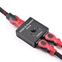 HDMI Switcher 2 Ports Bi-direction Manual Switch 2 x 1 / 1 x 2 HDMI Hub for $8.39 AC+FS @ Amazon