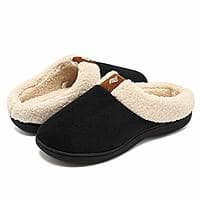 CIOR Fantiny Women's Memory Foam Slippers Suede Wool-Like Plush Fleece Lined Slip-on Clog Scuff House Shoes Indoor & Outdoor $8.99