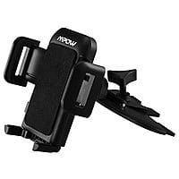 Mpow CD Slot Car Mount Holder for Smartphones and 3' Apple certified Lightning Cable $  9