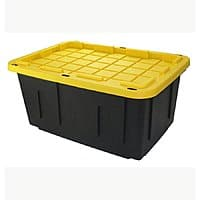 Lowes $  8.48 Centrex Plastics, LLC Commander 27-Gallon Black Tote with Standard Snap Lid