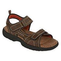 St. John's Bay Men's Strap, Slide, or Thong Sandals, Boat or Lace-Up Shoes $  14 each + free store pickup at JCPenney
