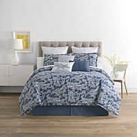 4-Piece JCPenney Home Hillcrest Cotton Comforter Set (Queen) $26 & More + Free S&H