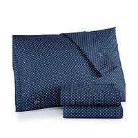 Lacoste Printed Cotton Percale Queen Sheet Set (2 colors) $  31.50 + free shipping