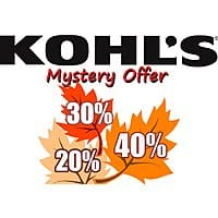Slickdeals Exclusive: Kohl's Mystery Coupon Up to 40% + free ship on $75 or free shipping for Cardholders
