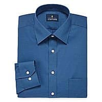 Stafford Men's Travel Easy Care Dress Shirts $7 each + free ship to JCP store on $25