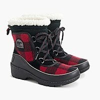 J Crew X Women's Sorel Tivoli III Boots (red plaid) $42.50 + free shipping