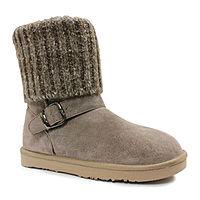 Lamo Women's Hurricane Suede Winter Boots (size 7,9) $12.74, St. John's Bay Womens Dalian Booties Block Heel $11.24, More + free ship to JCPenney