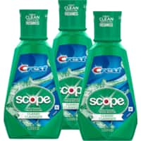 33.8-Oz Crest Plus Scope Classic Mouthwash (Original Formula Mint) 3 for $5 ($1.66 each) + free store pickup at Walgreens