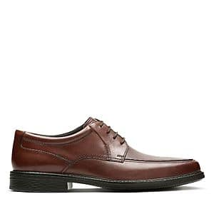 Clark's Extra 40% Off: Men's Leather Ipswich Apron or Wenham Cap Dress Shoes $36 & More + Free Shipping