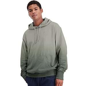 Champion: Men's Powerblend Fleece Ombre Hoodie $12.49, Women's Reverse Weave Hoodie $11.50, Women's 6-Pair No Show Socks $5.49, More + free shipping
