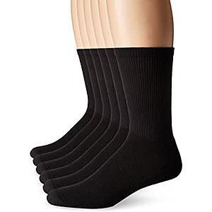 6-Pack Hanes Men's FreshIQ X-Temp Comfort Cool Crew Socks $5