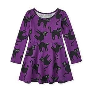 Children's Place Baby And Toddler Girls' Halloween Cat Skater Dress (up to 2t) $3.39, Halloween Unicorn Skater Dress (up to 3t) $3.39 + free shipping