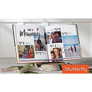"""Shutterfly Custom 8""""x8"""" Hardcover Photo Book w/ Up to 91 Extra Pages $8 (New Customers), or Existing Customers: Up to 91 Extra Pages Free (books start at $14.99) + Free S&H 59+,"""