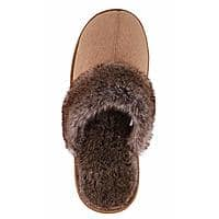 Unisex Plush Faux Suede Sherpa Lined House Slippers $7.99