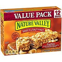Nature Valley Granola Bars, Sweet & Salty Nut, Cashew, 12 Bars, 1.2 oz [Cashew] $2.75
