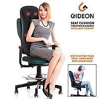 Luxury Six-Program Fully Customizable Back/Neck Massaging Cushion w/Heat - Shiatsu Deep Kneading, Rolling and Vibrating $  110
