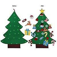 Henscoqi Felt Christmas Tree with 26 pieces Detachable Ornaments for Kids Education Hanging Decoration Less Than $  7 @Amazon $  6.8