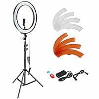 Neewer 18-inch Dimmable LED Ring Light Kit: Stand, Bluetooth Receiver, Phone Holder, Hot Shoe. + FS $65.09