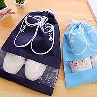2Pcs Portable Travel Shoe Bag Waterproof Drawstring Shoes Storage Organizer $1.75