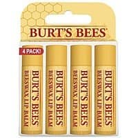 4-Pack Burt's Bees 100% Natural Moisturizing Lip Balm, Beeswax $7.22 AC @Amazon