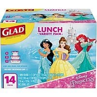 Glad Food Storage Containers, Lunch Variety Pack, Disney Princess, 14 ct $  3.98 AC @walmart
