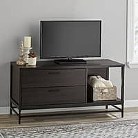 "Mainstays Wood and Metal TV Stand for TVs up to 55"" with FREE Delivery $48.21"