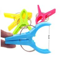 GikBay Beach Towel Clips, Towel Holder in 4 Fun Bright Colors for Beach Chair or Pool Loungers on Your Cruise, Keep Towel from Blowing Away, Set of 8 -$  4.99-amazon.com