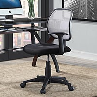 Mainstays Mesh Office Chairs With Arms, Black, with Gray Mesh Back $27.36