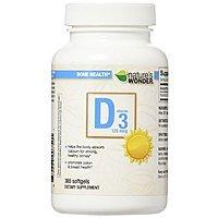 $  10 Nature's Wonder Vitamin D3 5000 iu 365 count soft gels