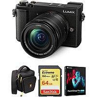 Panasonic Lumix DC-GX9 Mirrorless Digital Camera w/ 12-60mm OIS Lens + 64GB Sandisk U3 SD Card, Holster Bag & Paintshop Pro 2019 Ultimate - $797.99 + Free Shipping - B&H Photo