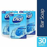 Dial Antibacterial Bar Soap, Spring Water, 30 Count - as low as $8.09+tax with S&S @ Amazon