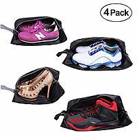 YAMIU Travel Shoe Bags Set of 4 Waterproof Nylon with Zipper for Men & Women $9.50 @Amazon
