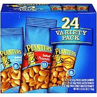 24-Pack Planters Nut Variety Pack (2lb 8.5oz) $6.55 w/ S&S + Free S&H
