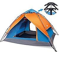 Yodo Easy Up Instant Tent for Family Camping, Orange/ Blue $  24 +FS @amazon