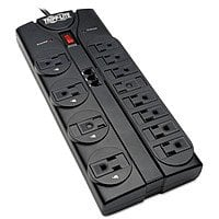 Tripp Lite 12 Outlet Surge Protector Power Strip Tel/Modem 8ft Cord Right Angle Plug (TLP1208TEL) $  17.74 @amazon