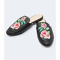 Aeropostale Embroidered Faux Leather Mule $12.00