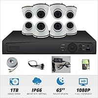 8 Channel 1080P HD-TVI Dome Surveillance System w/ 1TB HD @ Nelly's Security - $  399+Shipping