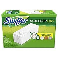 Subscribe and Save Swiffer Sweeper Dry Sweeping Pad, Multi Surface Refills for Dusters Floor Mop, Unscented, 52 Count $7.17