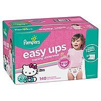 S&S plus new subscriber $5 off coupon: Pampers Easy Ups Training Pants Pull On Disposable Diapers for Girls, Size 4 (2T-3T), 140 Count $35.84