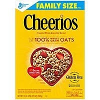 Cheerios Gluten Free Breakfast Cereal, 21 oz, Family Size Cereal Box Prime Pantry $  2.06