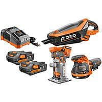 RIDGID 18-Volt GEN5X Cordless Lithium-Ion Combo Kit (3-Tool) with Two 2.0Ah Batteries and Charger $199