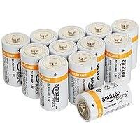 AmazonBasics D Cell Everyday Alkaline Batteries (12-Pack) (Add-on item or S&S) $5.39